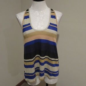 Joie striped tank top sz small shirt blouse